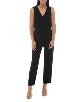 B Collection by Bobeau - Sleeveless Racer Stripe Jumpsuit