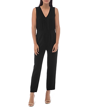 B Collection by Bobeau Sleeveless Racer Stripe Jumpsuit