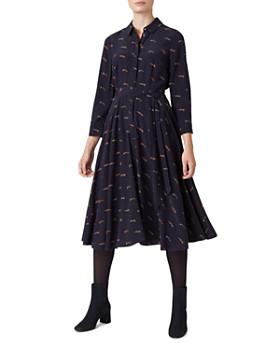 HOBBS LONDON - Lainey Fox Print Shirt Dress