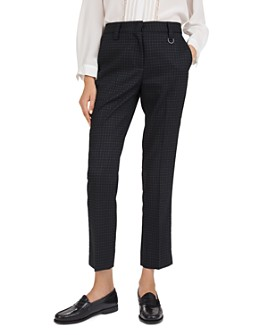 Gerard Darel - Lolaser Cropped Checked Pants