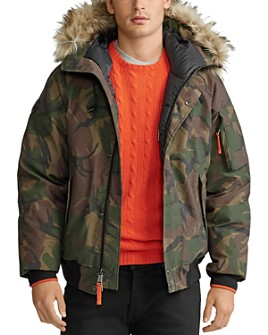 Polo Ralph Lauren - Camo Faux-Fur-Trim Down Bomber Jacket