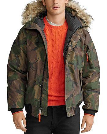 Polo Ralph Lauren - Camo Faux-Fur-Trim Down Bomber Jacket