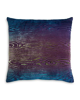"Kevin O'Brien Studio - Woodgrain Velvet Decorative Pillow, 18"" x 18"""