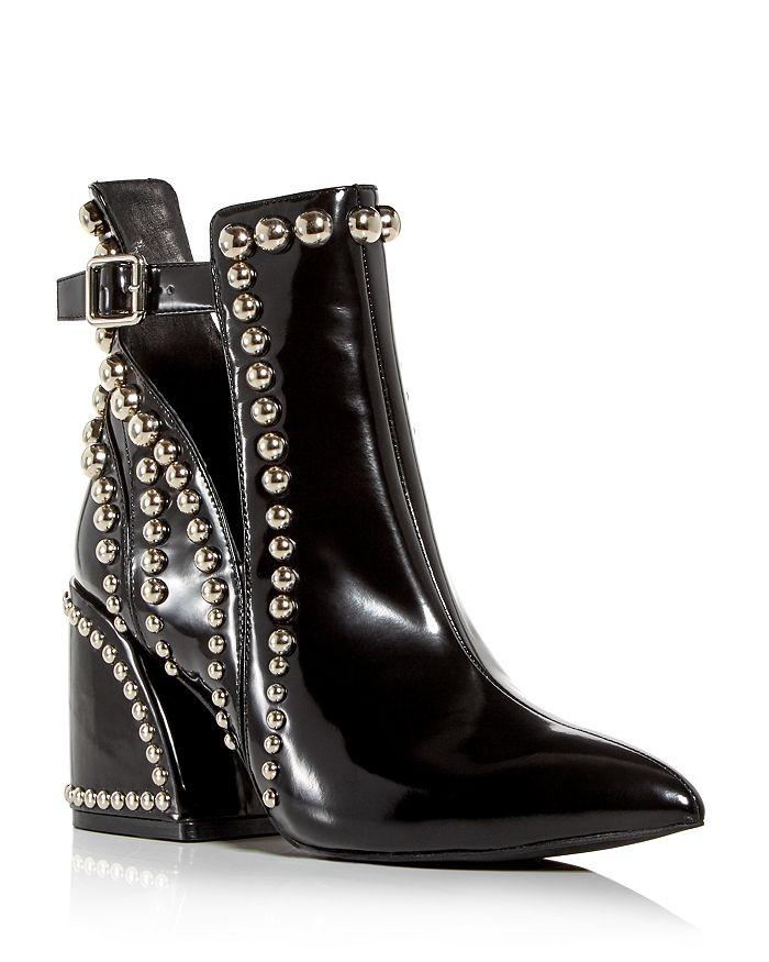 Jeffrey Campbell - Women's Studded Pointed-Toe Block-Heel Booties