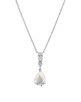"Nadri - Eliza Cultured Freshwater Pearl Pendant Necklace, 16""-18"""