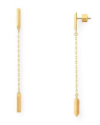 kate spade new york - Raise the Bar Pavé Linear Earrings