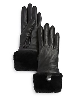 UGG® - Shearling-Cuff Leather Tech Gloves