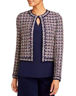 St. John - Cropped Passementerie Knit Jacket