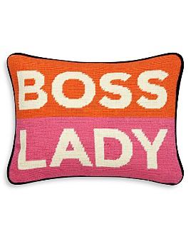 "Jonathan Adler - Boss Lady Decorative Pillow, 9"" x 12"""