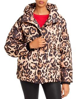 AQUA - Leopard Print Puffer Jacket - 100% Exclusive
