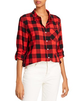AQUA - Buffalo Plaid Shirt - 100% Exclusive