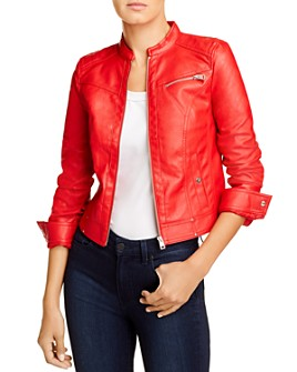 Vero Moda - Sheena Faux-Leather Moto Jacket