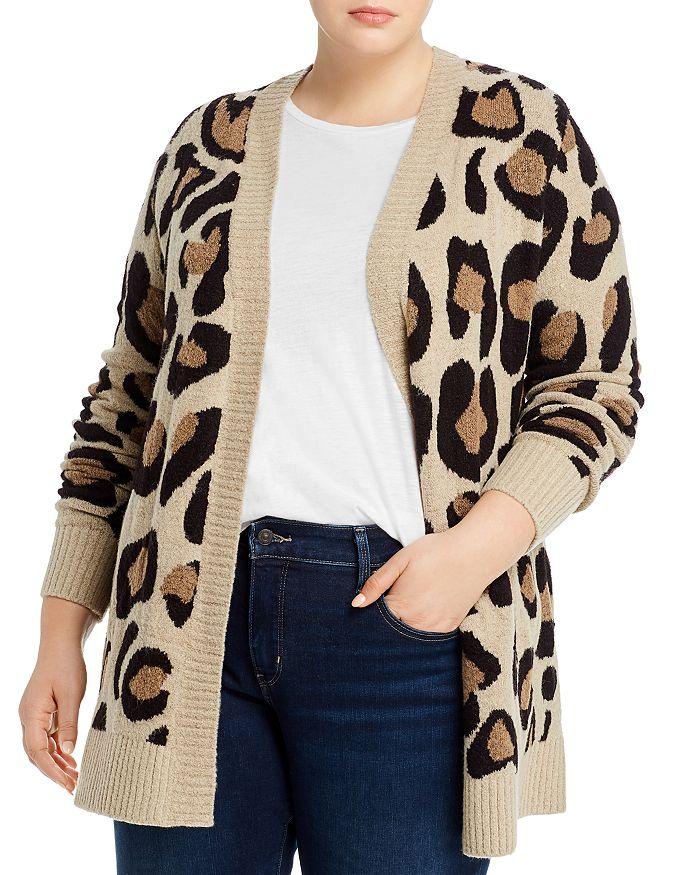 AQUA Curve - Leopard-Print Open Cardigan - 100% Exclusive