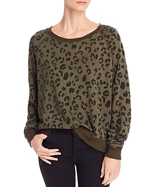 Rails T-shirts Theo Flocked Leopard Print Sweatshirt