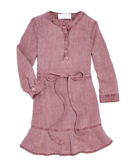 Bella Dahl - Girls' Belted Woven Dress - Little Kid, Big Kid