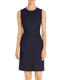 BOSS - Dasuria Sleeveless Checked Sheath Dress