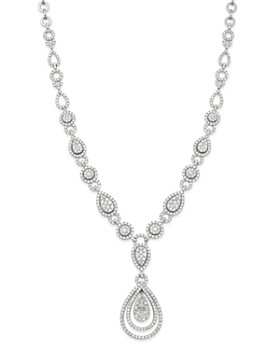 Bloomingdale's - Cluster Diamond Statement Necklace in 14K White Gold, 10.30 ct. t.w. - 100% Exclusive