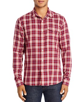 Scotch & Soda - Flannel Regular Fit Plaid Shirt