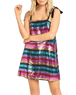 Show Me Your MuMu - Sequined Stripe Mini Dress