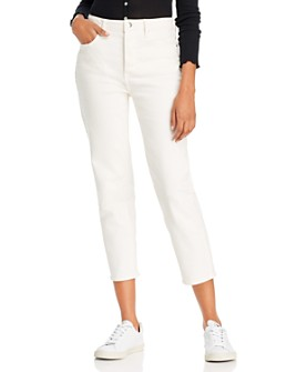AQUA - Relaxed Cropped Straight-Leg Jeans in Winter White - 100% Exclusive