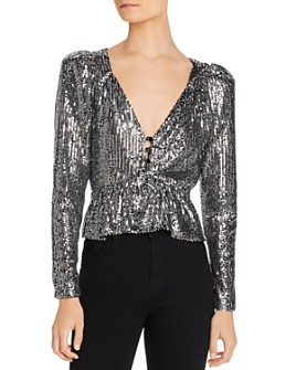 Rahi - Brit Puff-Sleeve Sequined Top