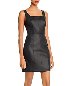 AQUA - Faux Leather Sheath Dress - 100% Exclusive