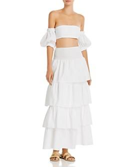 WeWoreWhat - Crop Top & Skirt