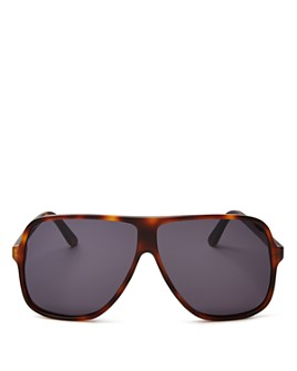 Illesteva - Unisex Connecticut Havana Oversized Aviator Sunglasses, 65mm