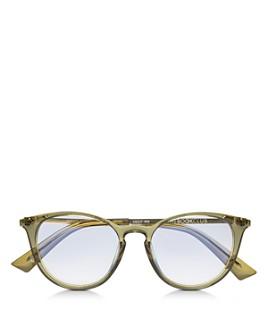 The Book Club - Women's Al The Chemist Round Blue Light Glasses, 52mm