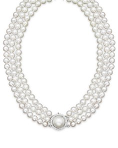 """Cultured Freshwater Pearl Necklace with Diamond Accents, 16"""" - Bloomingdale's_0"""