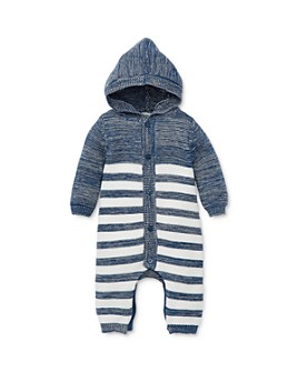 Little Me - Boys' Striped Hooded Knit Coverall - Baby