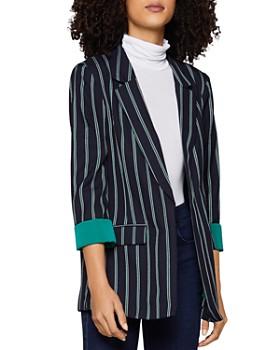 BCBGENERATION - Striped Open-Front Blazer