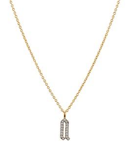 """Nadri - Gothicint Pavé Initial Pendant Necklace, 16""""-18"""""""