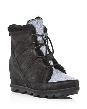 Sorel Women's Joan of Arctic Wedge Ii Waterproof Shearling Hidden Wedge Boots