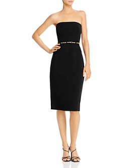 Black Halo - Jackie O Belted Strapless Dress