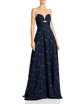 SAU LEE - Nanette Burnout Velvet Ball Gown