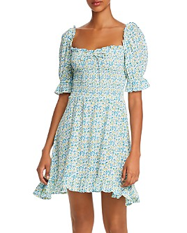 Faithfull the Brand - Donna Smocked Ditsy Floral Mini Dress