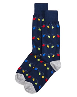 The Men's Store at Bloomingdale's - Holiday Lights Socks - 100% Exclusive