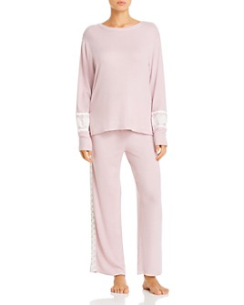 Flora Nikrooz - Amabel Brushed Knit Long Pajama Set