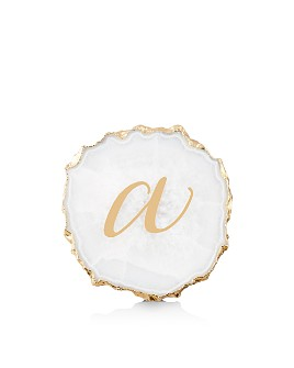 Anthropologie Home - Monogrammed Agate Coaster