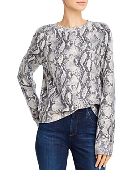 PAIGE - Snakeskin-Print Daytona Pullover Sweatshirt