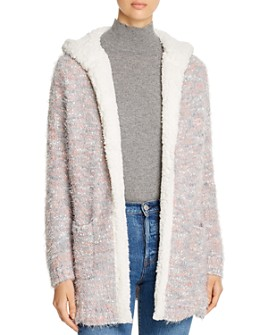 Alison Andrews - Hooded Textured Open Cardigan