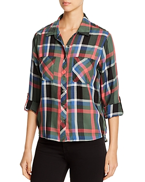 Billy T Plaid Button-Down Top