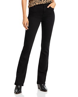 7 For All Mankind - Slim Bootcut Jeans in Black Noir