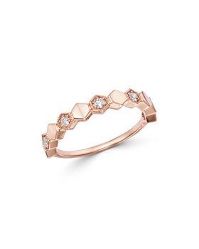 Bloomingdale's - Diamond Milgrain Stacking Band in 14K Rose Gold, 0.15 ct. t.w. - 100% Exclusive