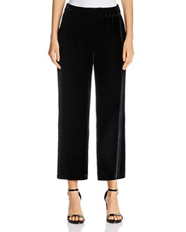 Eileen Fisher - Velvet Wide-Leg Cropped Pants
