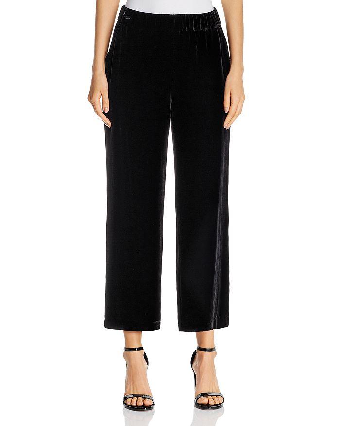Eileen Fisher - Velvet Wide-Leg Cropped Pants