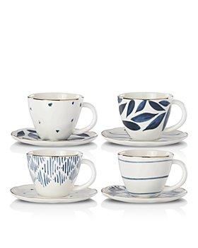 Lenox - Blue Bay Espresso Cup and Saucer, Set of 4