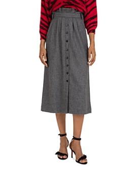 ba&sh - Cohle Paperbag-Waist Midi Skirt