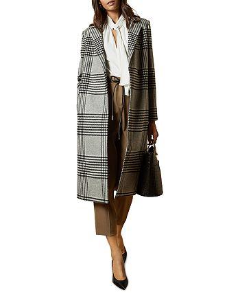 Ted Baker - Celinna Checkered Single Breasted Coat
